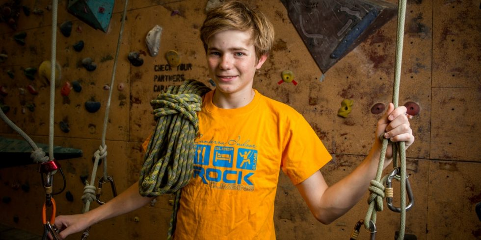 Image of Young Climber for Group Training Squads at Hume - Canberra Indoor Rock Climbing