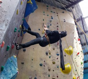 Batman has recently been spotted climbing at CIRC in preparation for the competition!