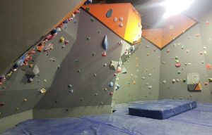 A wide shot of our bouldering cave in Mitchell