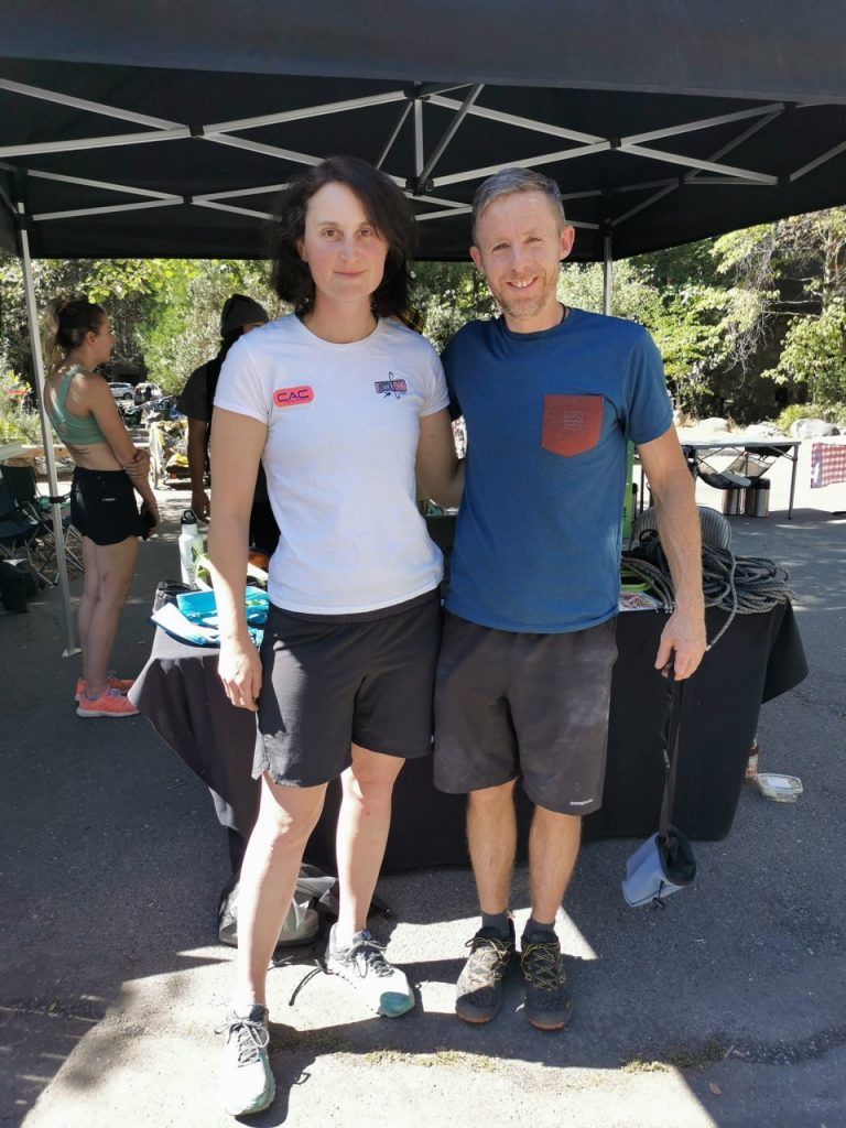 A photo of Cait and Tommy Caldwell standing together.